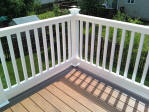 Decks NJ TimberTech composite with white vinyl railings