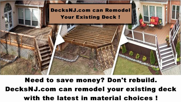 Decks NJ remodel ad for existing decks