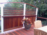 Decks NJ custom privacy railing - wall