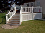 Decks NJ Flared Staircase with Lattice Skirting